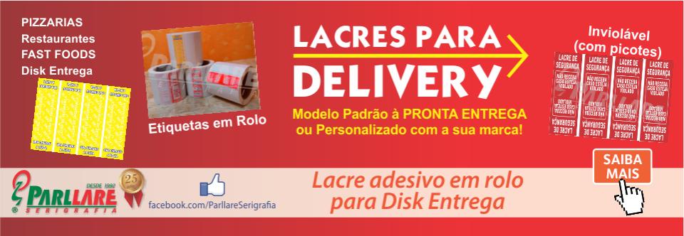 Lacre garantia p/ Caixa de Pizza e disk entrega
