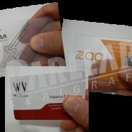 Cartão de visita em plástico