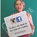 placa instagram hashtag para festa curitiba